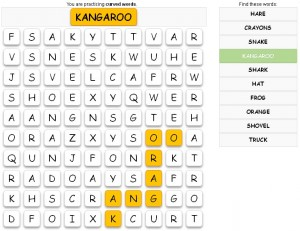 Screenshot of the game word puzzle