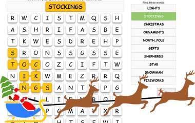 The game Christmas word game