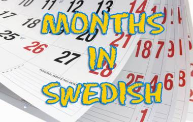 The game Months in Swedish