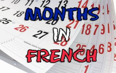 The game Months in French