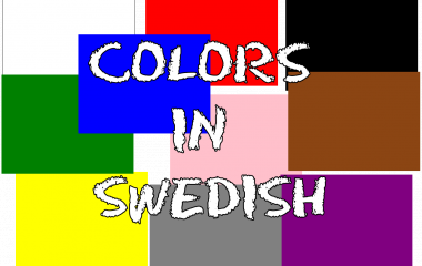 The game Colors in Swedish
