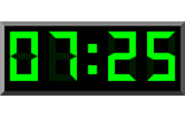 The game Digital clock in English