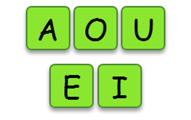 The game Find vowels