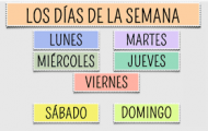 Play Days of the week in Spanish