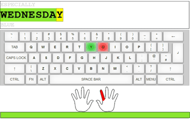 The game Keyboard typing